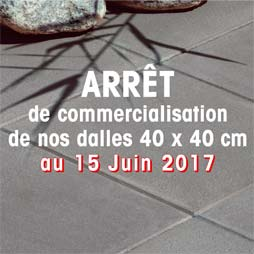 arrêt de production dalle 40x40